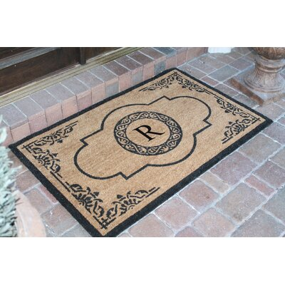 First Impression Abrilina Monogrammed Doormat Letter: R