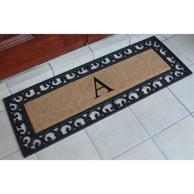 First Impression Myla Monogrammed Doormat