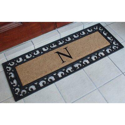 First Impression Myla Monogrammed Doormat Letter: N