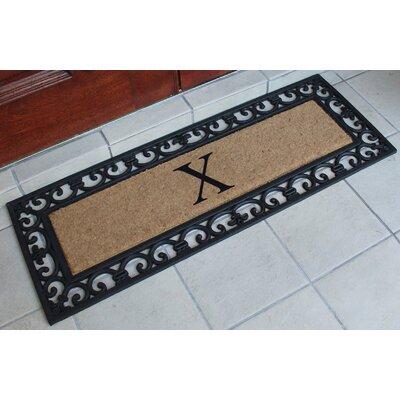 First Impression Myla Monogrammed Doormat Letter: X