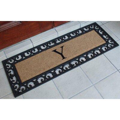 First Impression Myla Monogrammed Doormat Letter: Y