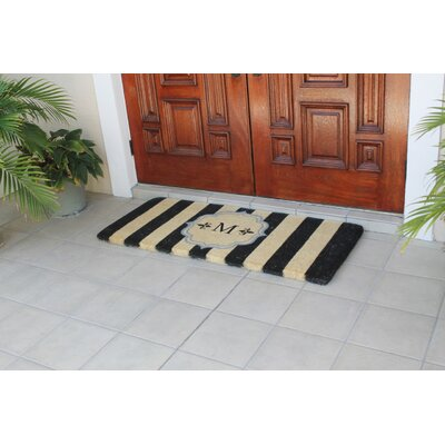 First Impression Haywood Entry Double Doormat Letter: M