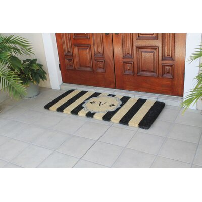 First Impression Haywood Entry Double Doormat Letter: V