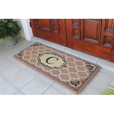First Impression Gayle Ogee Doormat Letter: C