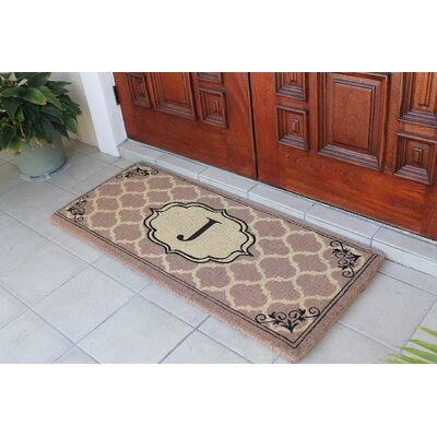 First Impression Gayle Ogee Doormat Letter: J