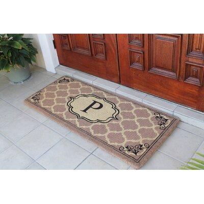 First Impression Gayle Ogee Doormat Letter: P