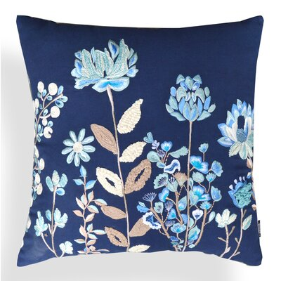 Georgia Floral Cotton Throw Pillow