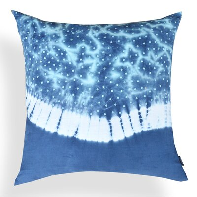 Amaryllis Tie and Die Cotton Throw Pillow