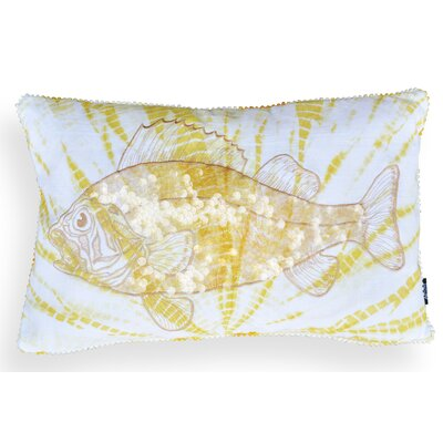 Livia Fish Cotton Lumbar Pillow