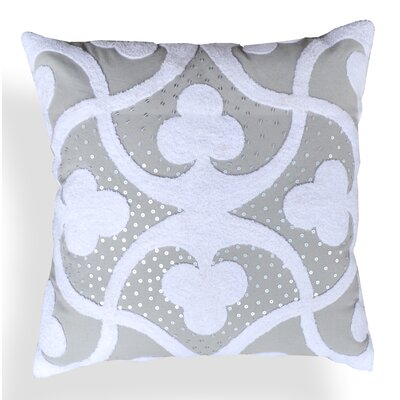 Clarissa Embroidered Cotton Throw Pillow