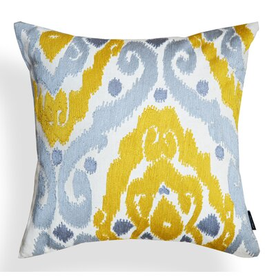 Ikat Ruby Cotton Throw Pillow