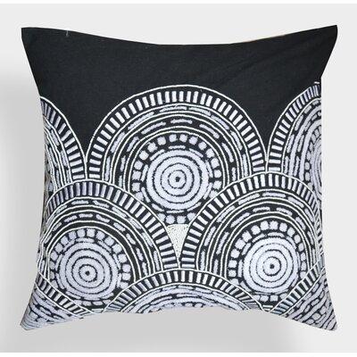 Dora Embroidered Cotton Throw Pillow