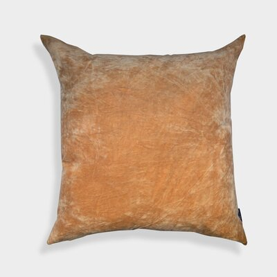 Nessa Velvet Throw Pillow Color: Beige