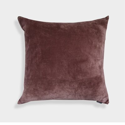 Nessa Velvet Throw Pillow Color: Brown