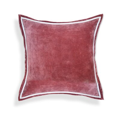 Hand crafted Velvet Throw Pillows Color: Marsala