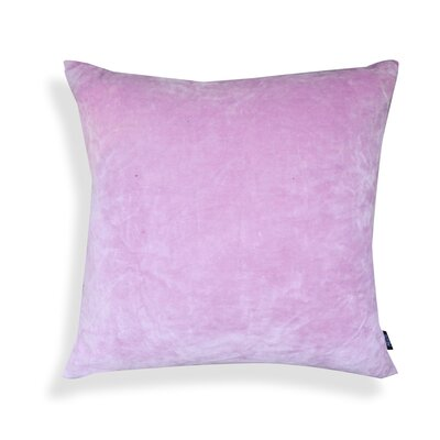 Nessa Velvet Throw Pillow Color: Light Lavender