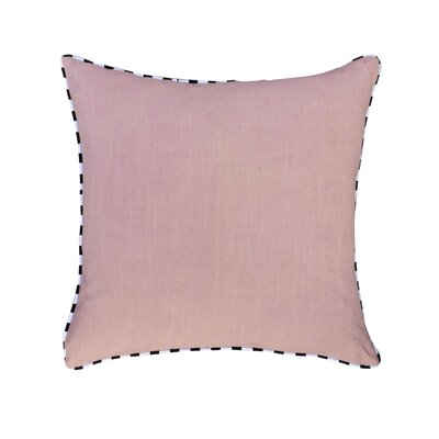 Hand crafted Cotton Throw Pillow Color: Light Lavender
