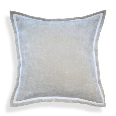 Hand crafted Velvet Throw Pillows Color: Gray