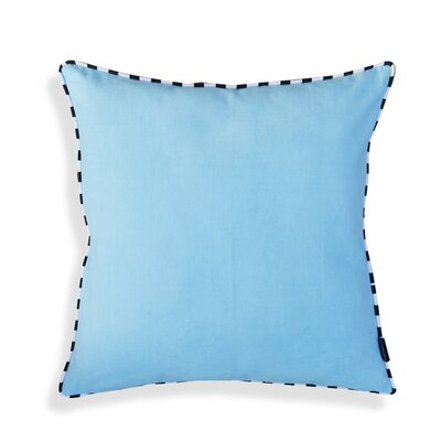 Hand crafted Cotton Throw Pillow Color: Light Blue