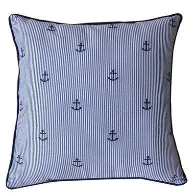 Carla Striped Anchor Throw Pillow