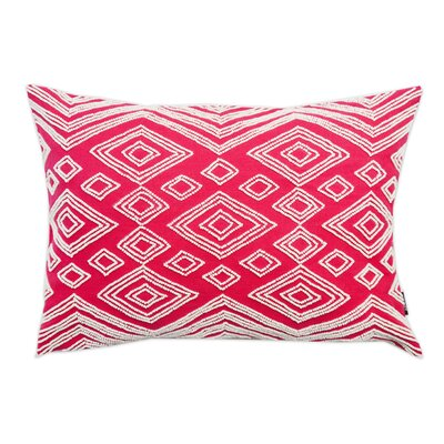 Beaded Cotton Lumbar Pillow