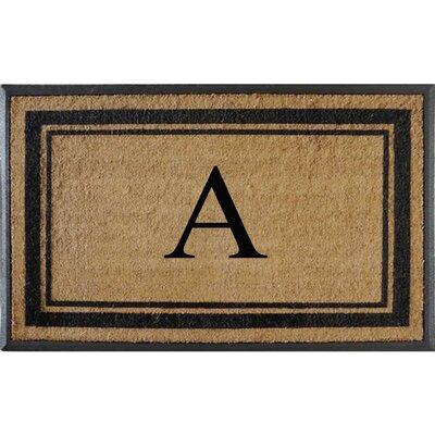 First Impression Markham Border Doubledoor Monogrammed Doormat Letter: A