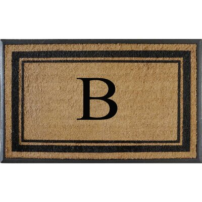 First Impression Markham Border Doubledoor Monogrammed Doormat Letter: B