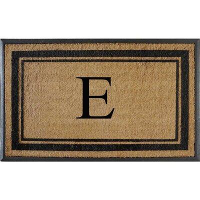 First Impression Markham Border Doubledoor Monogrammed Doormat Letter: E