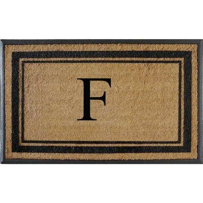 First Impression Markham Border Doubledoor Monogrammed Doormat Letter: F