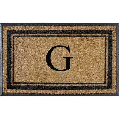 First Impression Markham Border Doubledoor Monogrammed Doormat Letter: G