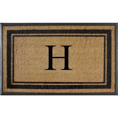 First Impression Markham Border Doubledoor Monogrammed Doormat Letter: H