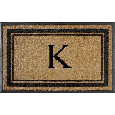 First Impression Markham Border Doubledoor Monogrammed Doormat Letter: K