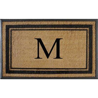 First Impression Markham Border Doubledoor Monogrammed Doormat Letter: M