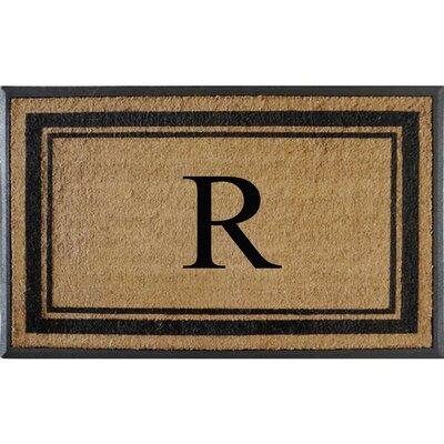 First Impression Markham Border Doubledoor Monogrammed Doormat Letter: R