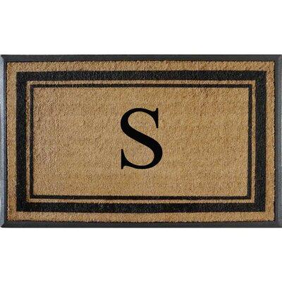 First Impression Markham Border Doubledoor Monogrammed Doormat Letter: S