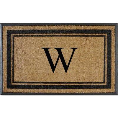 First Impression Markham Border Doubledoor Monogrammed Doormat Letter: W