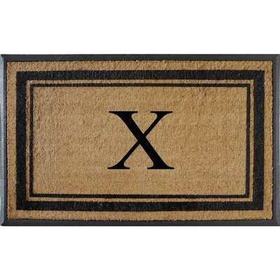First Impression Markham Border Doubledoor Monogrammed Doormat Letter: X