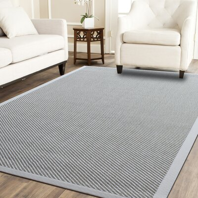 Hand-Woven Ivory Area Rug Rug Size: 4 x 6