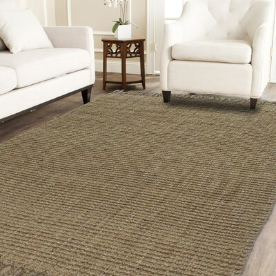 Hand-Woven Natural Area Rug Rug Size: 8 x 10