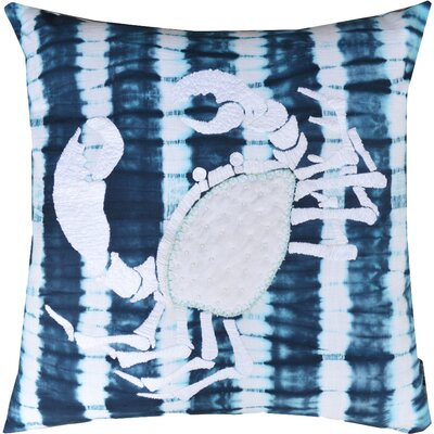 Marnia Scorpion Cotton Throw Pillow Color: Blue