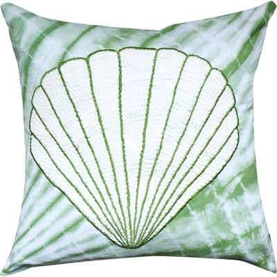 Zea Tie and Die Shell Cotton Throw Pillow