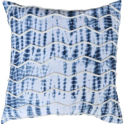 Chevron Alina 100% Cotton Throw Pillow Color: Blue