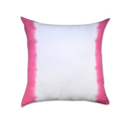 Ombre Cotton Throw Pillow Color: Pink