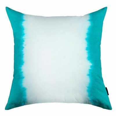 Ombre Cotton Throw Pillow Color: Blue