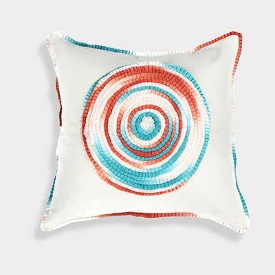 Ombre Spiral Throw Pillow
