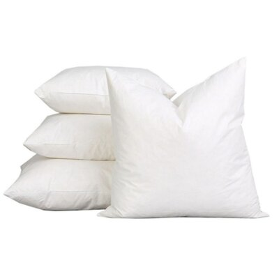 Sterilized Extra Fluff and Durable 100% Cotton Pillow Insert Size: 18 H x 18 W