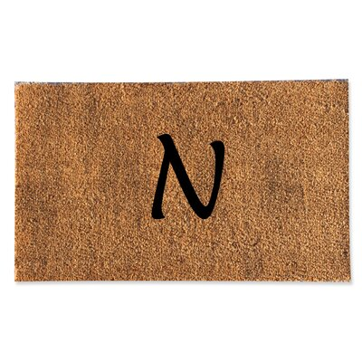 First Impression Monogrammed Doormat Letter: N