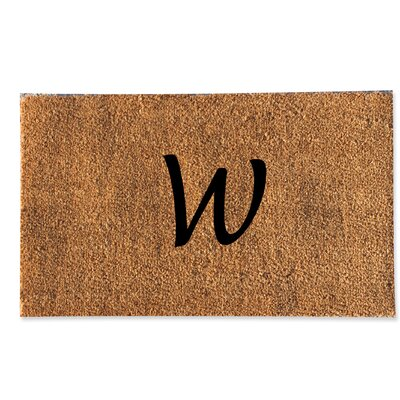 First Impression Monogrammed Doormat Letter: W