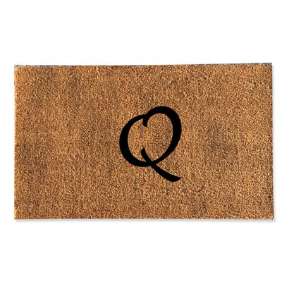 First Impression Monogrammed Doormat Letter: Q
