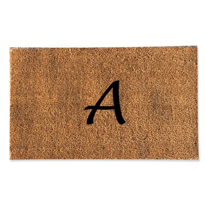 First Impression Monogrammed Doormat Letter: A